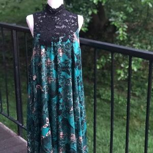 Anthropologie Maeve Lace Swing Dress Size Small